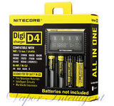 Nitecore D4 Digicharger For AA 18650 14500 18350 16340 10400 Li-ion & Ni-MH