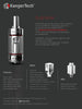 Starter Kit Kanger Subtank - OCC / RBA Sub Ohm Tank with SmokTech Magneto - Stainless (Battery Included) +  Nitecore D2 Digicharger