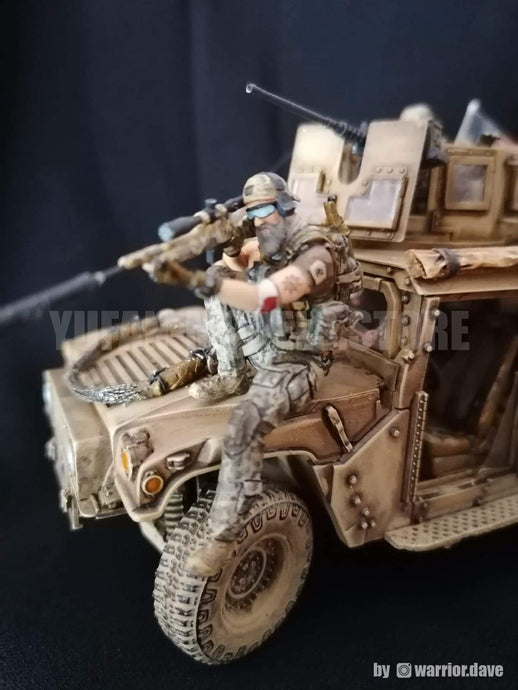 American Sniper Team Soldier in 1/35 scale, finished and painted. Yufan Models review YFWW-1990