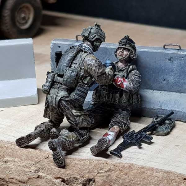 Special troops. Creating a scale model diorama. Part 2.