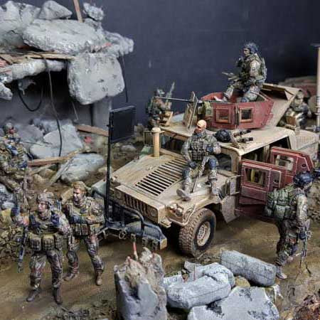 Special troops. Completing the diorama. Part 3.