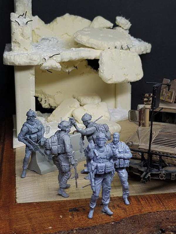 American soldiers scale model