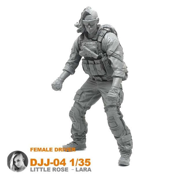 1:35 US Army Female ATV Driver Soldier with M4 Resin Scale Figure DJJ-04 - Yufan Models Store