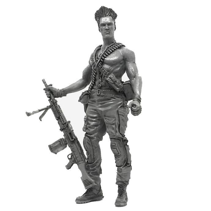 1:35 Postapocalypse M240 Machine Gunner Soldier Resin Scale Figure A18-02 - Yufan Models Store