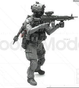 1:35 US Army Infantry Soldier M249 Blue Devil Team Resin Scale Figure LJH-08 - Yufan Models Store
