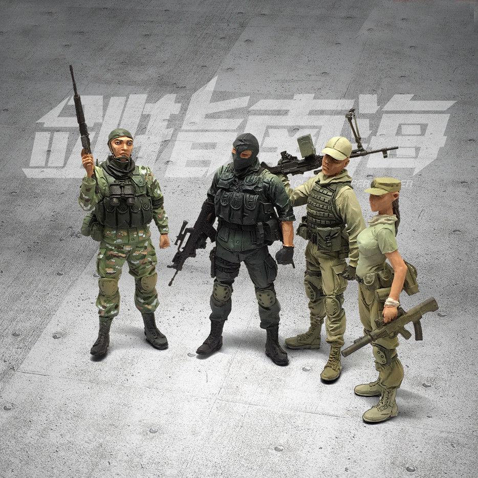 1:35 Chinese Modern Soldiers Team 4 figures set Military Model Resin Scale Figure YFWW-1636 - Yufan Models Store