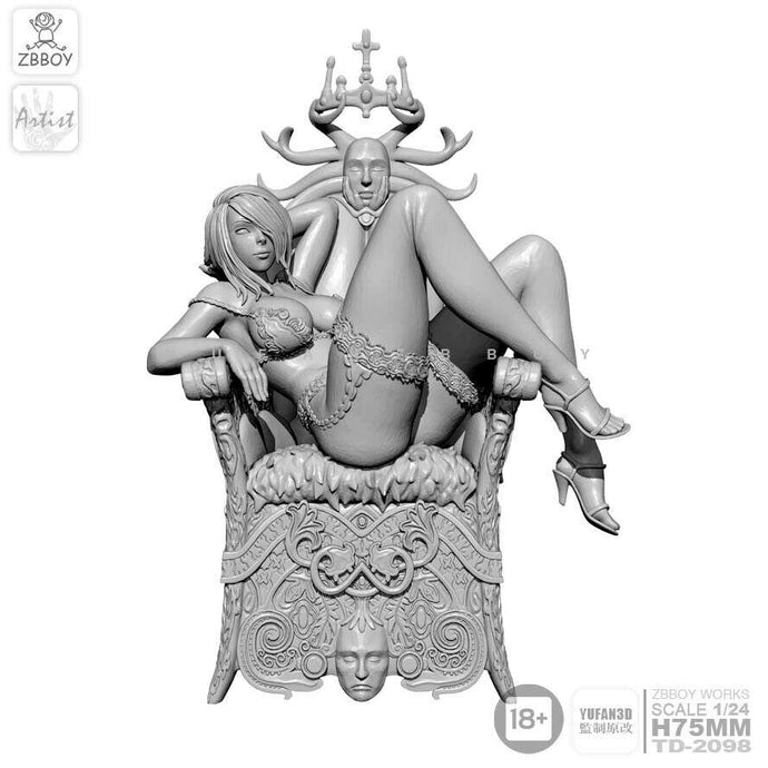 1:24 Throne Sexy Witch Resin Scale Figure TD-2098 - Yufan Models Store