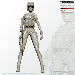1:24 Female PLA special forces soldier Resin Scale Figure YFWW-2040 - Yufan Models Store