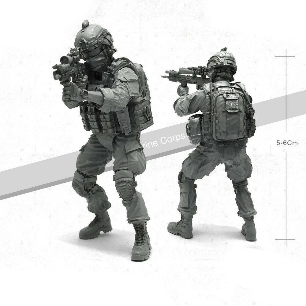 1:35 USMC Marine Corps Soldier with M4 Gun Tactical Resin Scale Figure TLP-04 - Yufan Models Store