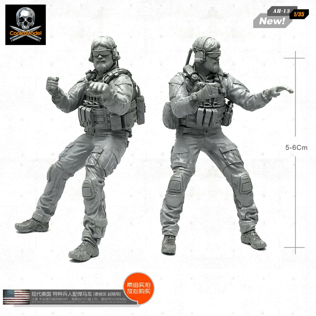 1:35 Us Army Soldier ATV Crew Resin Scale Figure AH-13 - Yufan Models Store