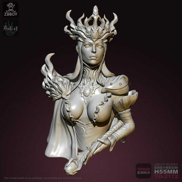 1:16 Bust Empress of the Deep Sea Resin Scale Figure 65 mm TD-2172 - Yufan Models Store