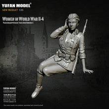 Load image into Gallery viewer, 1:35 German Female Infantry Soldier Tiger Tank Crew Model Resin Scale Military Figure YFWW-2065-4 - Yufan Models Store