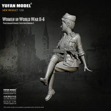 Load image into Gallery viewer, 1:35 German Female Officer Tiger Tank Crew Model Resin Scale Military Figure YFWW-2065-6 - Yufan Models Store