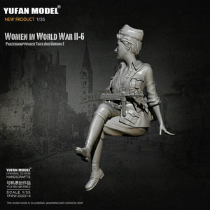 1:35 German Female Officer Tiger Tank Crew Model Resin Scale Military Figure YFWW-2065-6 - Yufan Models Store
