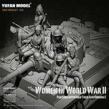 Load image into Gallery viewer, 1:35 Full Set German Female Crew for Tiger Tank Model Resin Scale Military Figures YFWW-2065 - Yufan Models Store