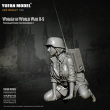 Load image into Gallery viewer, 1:35 German Female Radio Operator Soldier Tiger Tank Crew Model Resin Scale Military Figure YFWW-2065-5 - Yufan Models Store