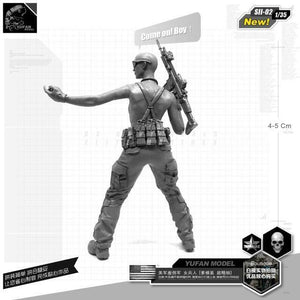 1:35 US Army Female Sexy Soldier Resin Scale Figure SII-02 - Yufan Models Store