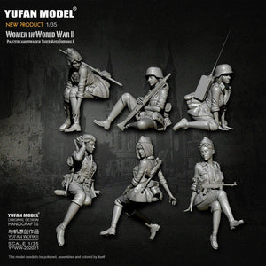 1:35 Full Set German Female Crew for Tiger Tank Model Resin Scale Military Figures YFWW-2065 - Yufan Models Store