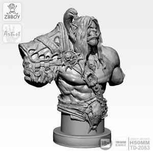 1:16 Bust Orc World of Warcraft Resin Scale Figure 50mm TD-2083 - Yufan Models Store