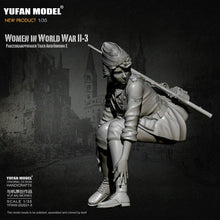 Load image into Gallery viewer, 1:35 German Female Rifle Soldier Tiger Tank Crew Model Resin Scale Military Figure YFWW-2065-3 - Yufan Models Store