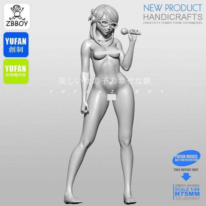 1:24 Singing Beautiful Pretty Girl Pin Up Resin Scale Figure TD-201947 - Yufan Models Store
