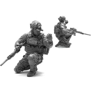 1:35 US Modern Special Forces Soldier w/ Grenade Resin Scale Model NAI-25 - Yufan Models Store