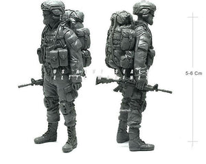 1:35 US Army Soldier On March with Big Backpack Resin Scale Model Figure USK-17 - Yufan Models Store