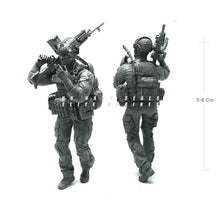 Load image into Gallery viewer, 1:35 US Military model Modern Elite Paratrooper Machine Gunner Smoking Resin Scale Figure USK-11 - Yufan Models Store