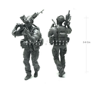 1:35 US Military model Modern Elite Paratrooper Machine Gunner Smoking Resin Scale Figure USK-11 - Yufan Models Store
