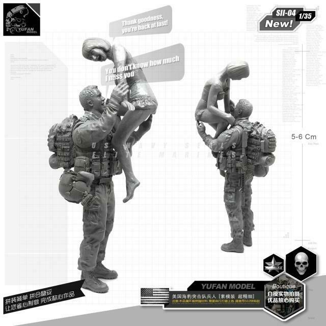 1:35 American Black Hawk Pilot and his Wife Resin Scale Figure SII-04 - Yufan Models Store