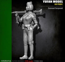 Load image into Gallery viewer, 1:35 WWII German Sergeant with Machine Gun Resin Scale Figure YFWW35-1852 - Yufan Models Store