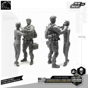 1:35 US Army Soldier And Wife Resin Scale Figure SII-06 - Yufan Models Store