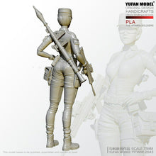 Load image into Gallery viewer, 1:24 PLA Female Special Forces Soldier Resin Scale Figure YFWW-2043 - Yufan Models Store