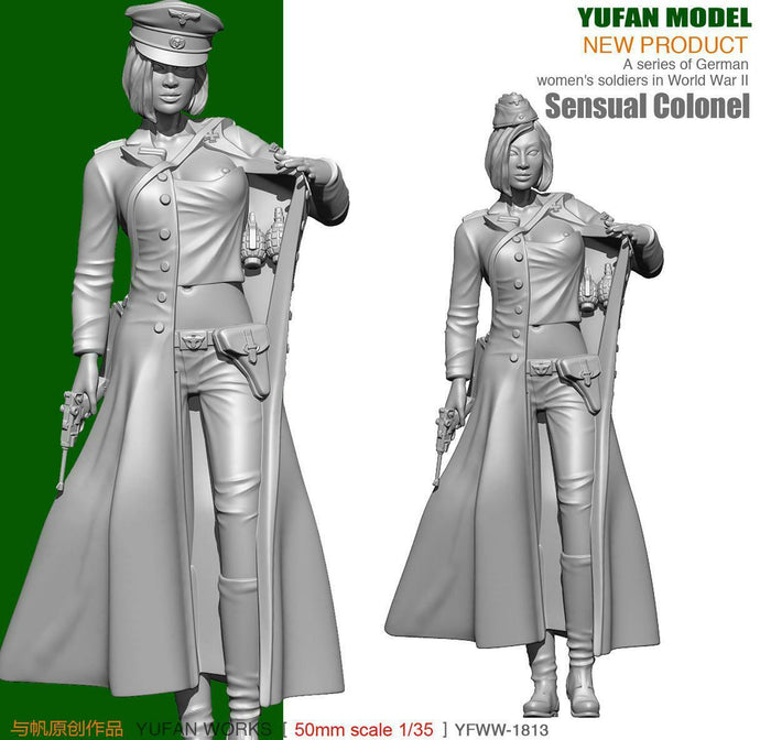 1:35 WWII German Female Sensual Colonel Resin Scale Figure YFWW35-1813 - Yufan Models Store