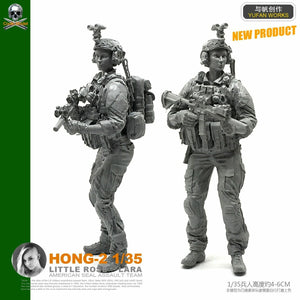 1:35 US Special Forces Female Soldier Resin Scale Figure HONG-02 - Yufan Models Store