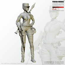 Load image into Gallery viewer, 1:24 PLA Female Special Forces Soldier Resin Scale Figure YFWW-2043