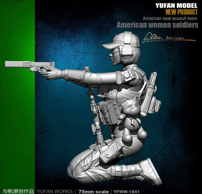 1:24 US Female Seal Commando Resin Scale Figure YFWW-1841 - Yufan Models Store