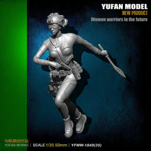 Load image into Gallery viewer, 1:35 FEMALE Warriors in the Future Figure Resin Scale Figure YFWW35-1849 - Yufan Models Store