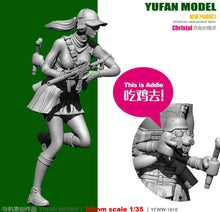 Load image into Gallery viewer, 1:35 Tactical Girl with Rabbit Resin Scale Figure YFWW35-1816 - Yufan Models Store