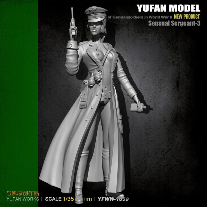 1:35 WWII German Sensual Sergeant Female Resin Scale Figure YFWW35-1859 - Yufan Models Store
