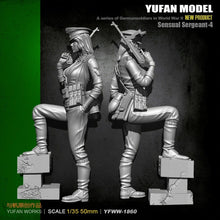 Cargar imagen en el visor de la galería, 1:35 WWII German Female Sensual Sergeant with MP-40 Resin Scale Figure YFWW35-1860 - Yufan Models Store
