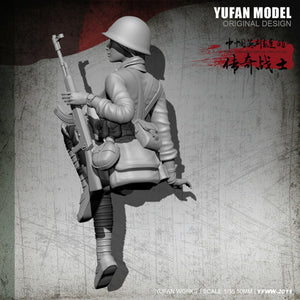 1:35 Chinese Female Soldier 1979-80 China-Vietnam War Resin Scale Figure YFWW-2011