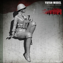 Load image into Gallery viewer, 1:35 Chinese Female Soldier 1979-80 China-Vietnam War Resin Scale Figure YFWW-2011