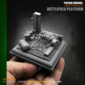 1:35 Platform for Soldier Figurines Accessories Resin Scale Model YFWW35-1862 - Yufan Models Store