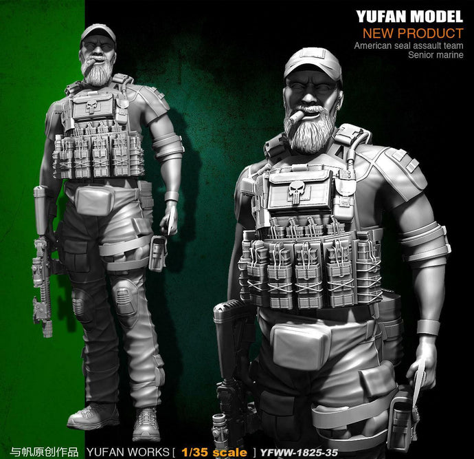 1:35 US SEAL Assault Team Senior Marine Resin Scale Figure YFWW35-1825 - Yufan Models Store