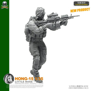 1:35 US Special Forces Female Soldier Resin Scale Figure HONG-15 - Yufan Models Store