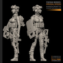 Load image into Gallery viewer, 1:35 US Marines Modern Female Soldier Figure Resin Scale Model YFWW35-2023 - Yufan Models Store