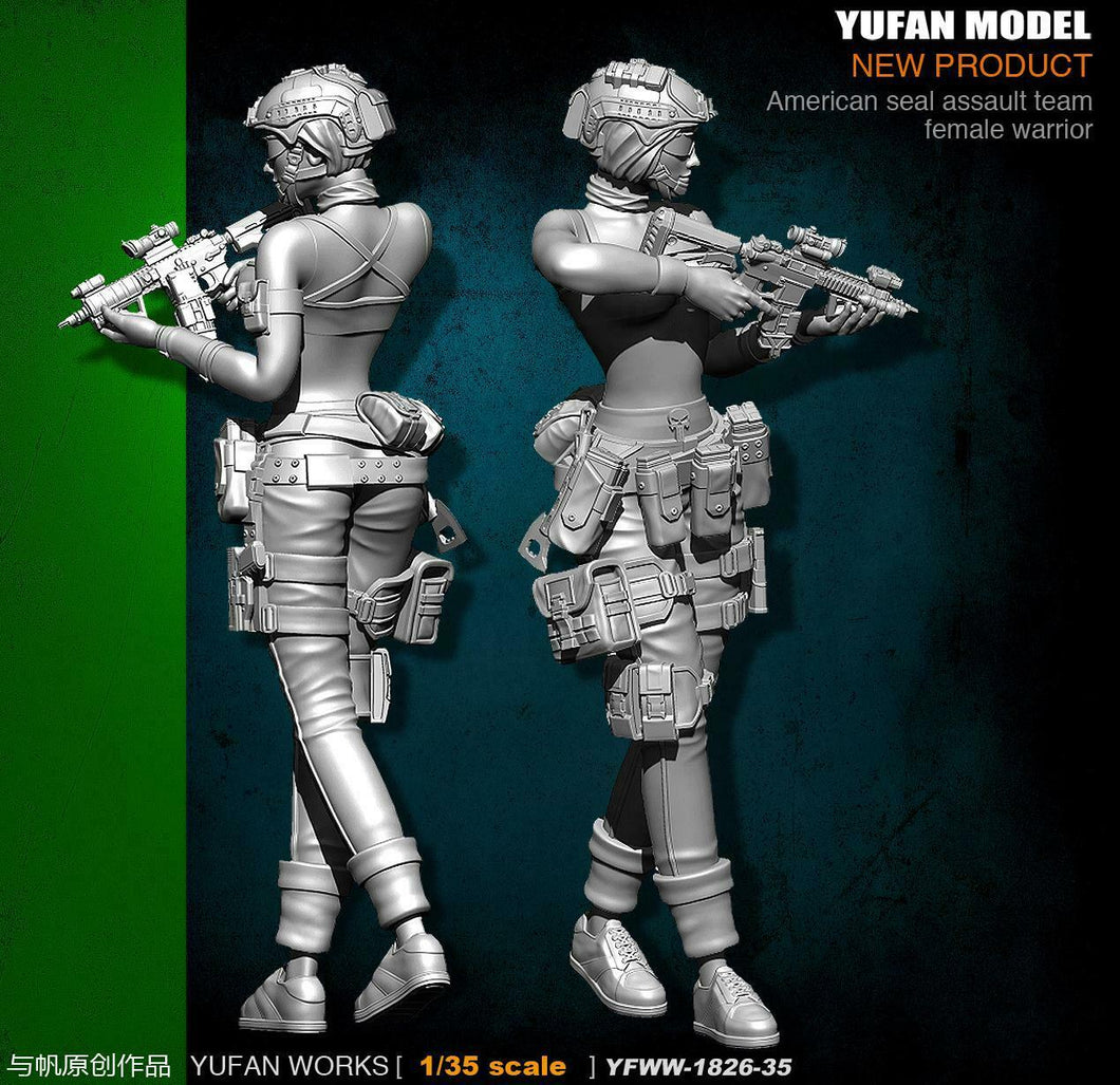 1:35 US SEAL Team Female Warrior Resin Scale Figuer YFWW35-1826 - Yufan Models Store