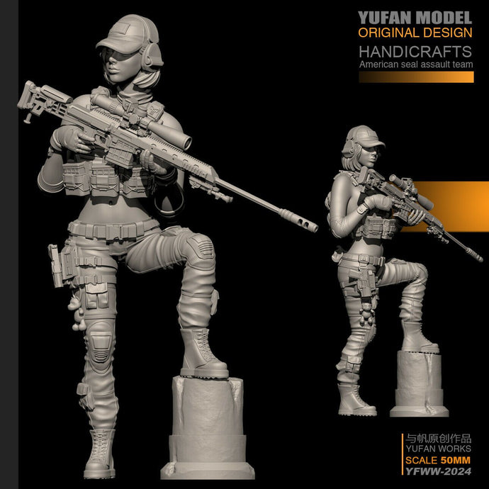 1:35 US SEAL Female Sniper Figure Resin Scale Model YFWW35-2024 - Yufan Models Store