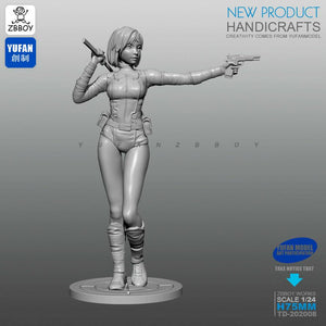 1:24 Assassin Beauty Girl Resin Scale Figure TD-202008 - Yufan Models Store